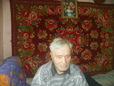 Старейший житель деревни Устье - Журня Иосиф Станиславович 1925 г.р.